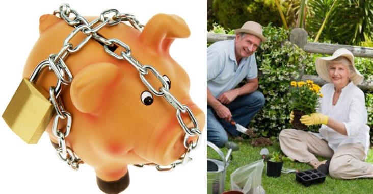 Sparschweinchen mit Rentnern